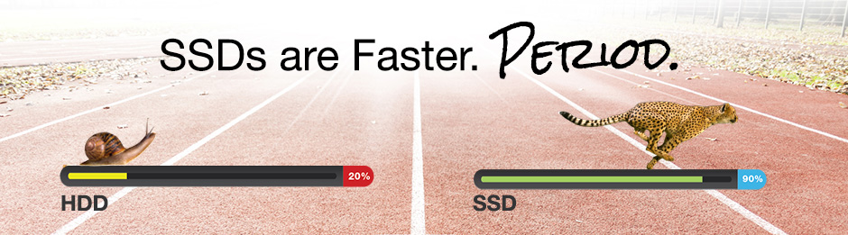 SSDs are faster than HDDs